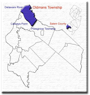 Map of Salem County and Oldmans Township